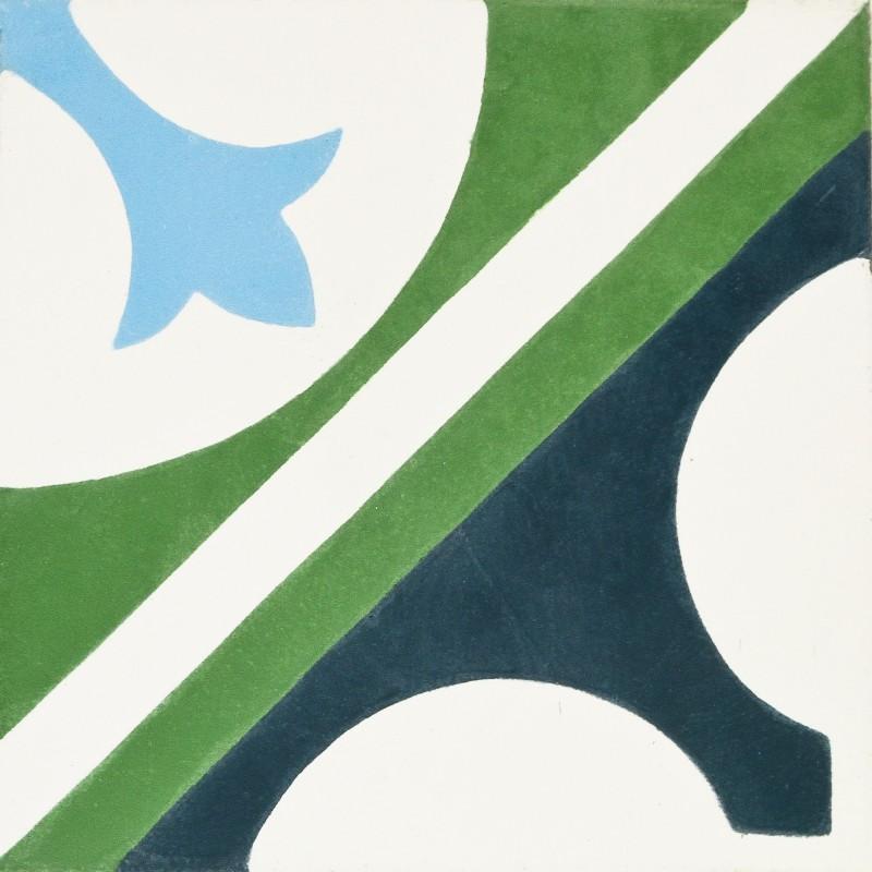 carreau de ciment motif vert et bleu arborescence sud ouest. Black Bedroom Furniture Sets. Home Design Ideas