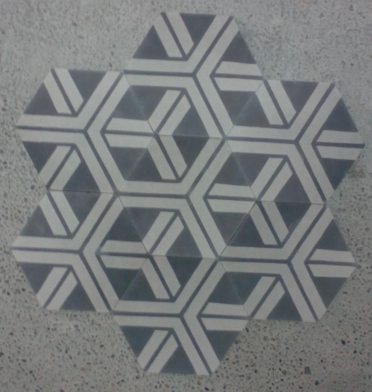 carreau de ciment hexagonal racine arborescence sud ouest. Black Bedroom Furniture Sets. Home Design Ideas