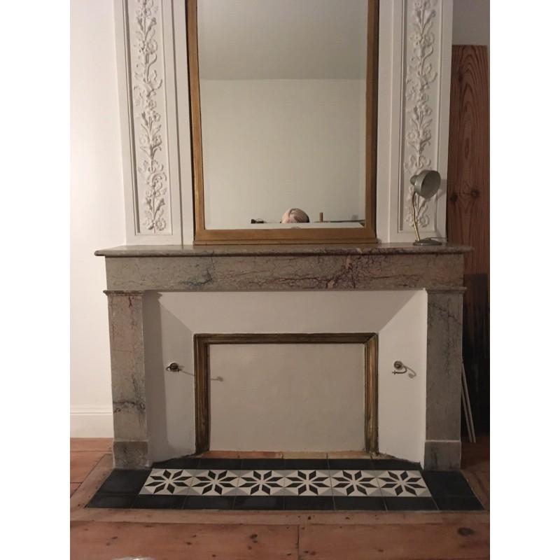 carreau de ciment noir motif arborescence sud ouest. Black Bedroom Furniture Sets. Home Design Ideas