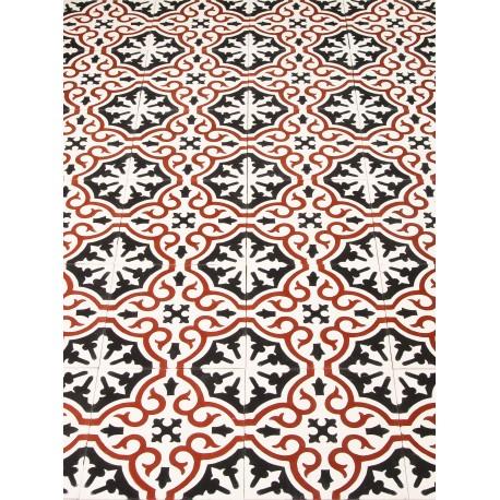 carreau de ciment floral stendhal arborescence sud ouest. Black Bedroom Furniture Sets. Home Design Ideas