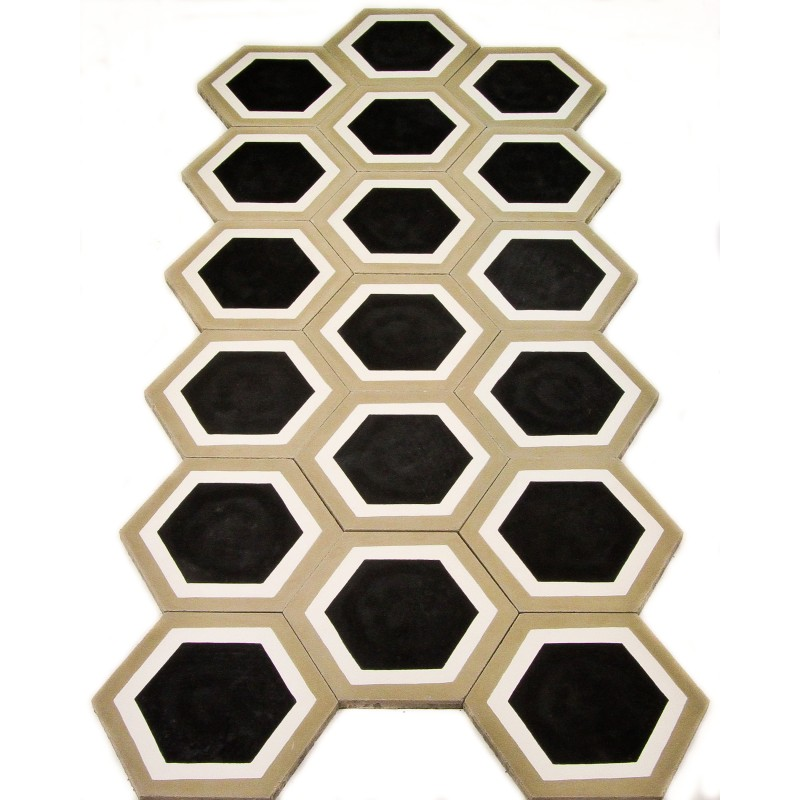 carreau de ciment hexagonal etoile arborescence sud ouest. Black Bedroom Furniture Sets. Home Design Ideas