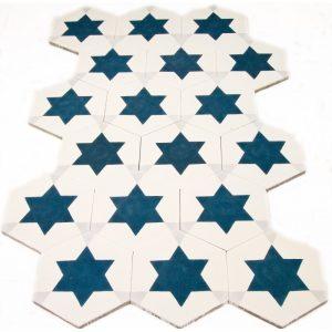 carreau de ciment hexagonal toile arborescence sud ouest. Black Bedroom Furniture Sets. Home Design Ideas