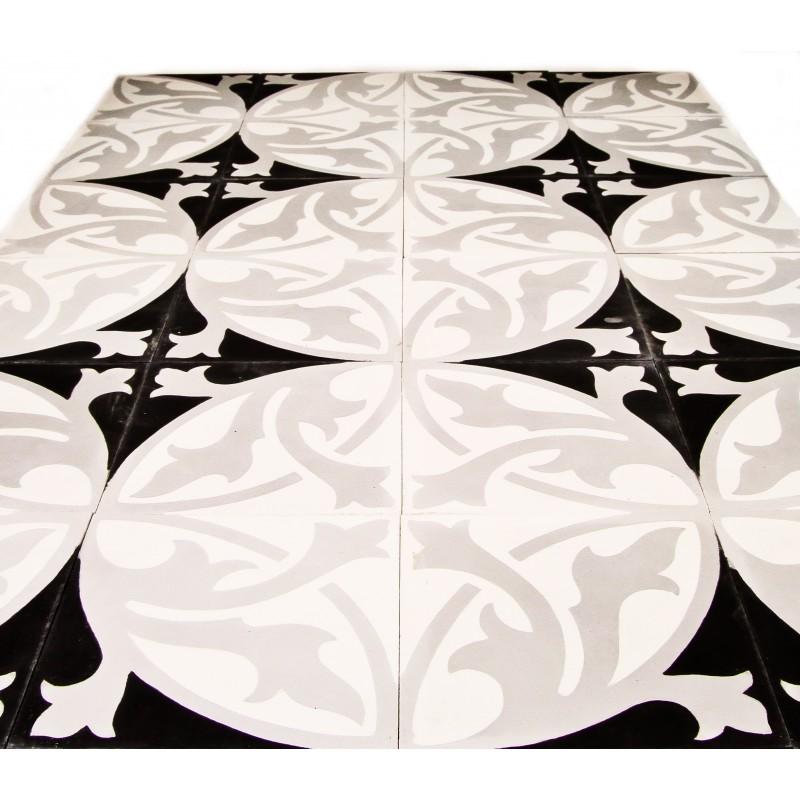 carreau de ciment motif fleur arborescence sud ouest. Black Bedroom Furniture Sets. Home Design Ideas
