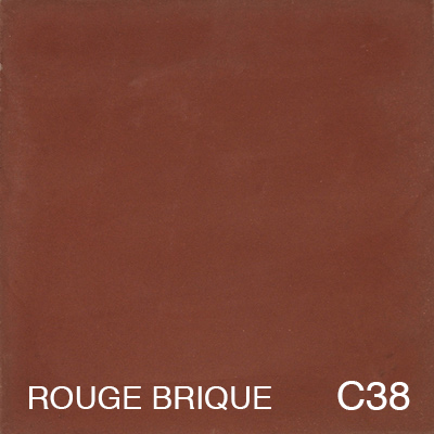carreau de ciment Rouge Bisque