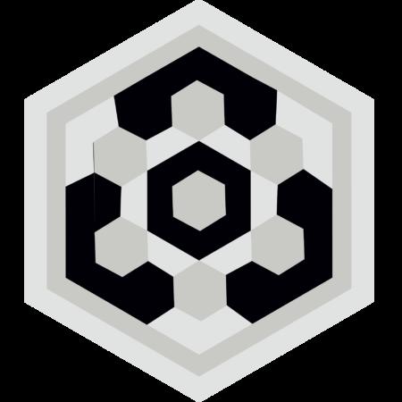 carreau hexagonal BOUTON-BLANC