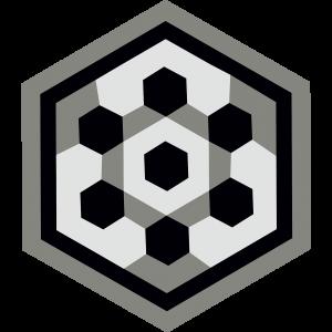 carreau hexagonal BOUTON-NOIR