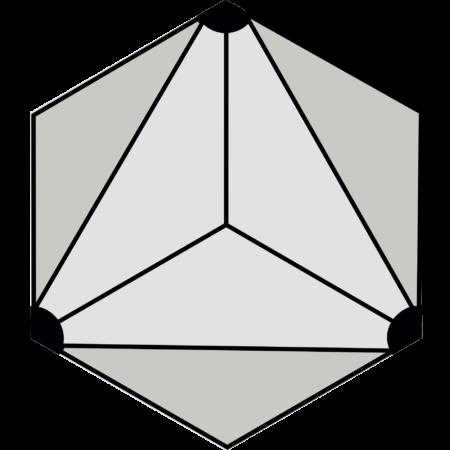 carreau hexagonal DIVA-NOIR