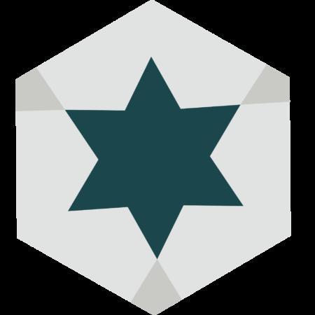 carreau hexagonal ETOILE
