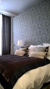 papier peint tête de lit de chambre
