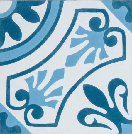 Carreau de ciment Lisbonne bleu