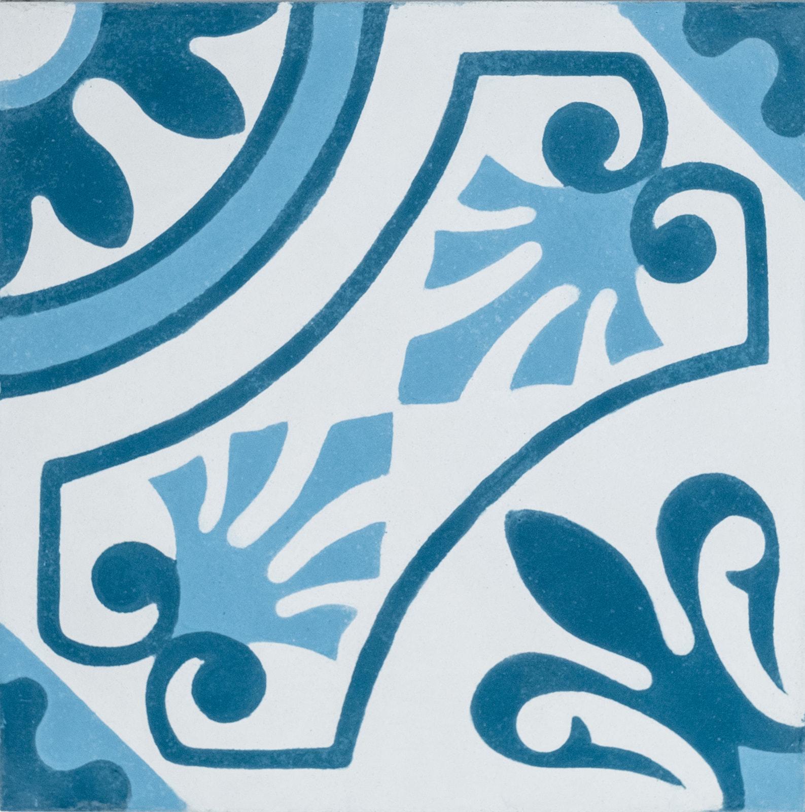 carreau de ciment lisbonne bleu arborescence sud ouest. Black Bedroom Furniture Sets. Home Design Ideas