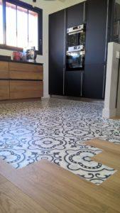 Carreau de ciment dans la cuisine