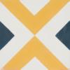 carreau de ciment Arlequin bleu-jaune