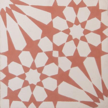 carreaux de ciment arabesque rose